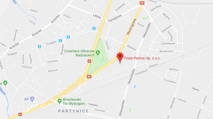 mapa - lokalizacja firmy - Wyścigowa 56c, Wrocław